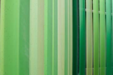 Detail of a gate in different shades of green