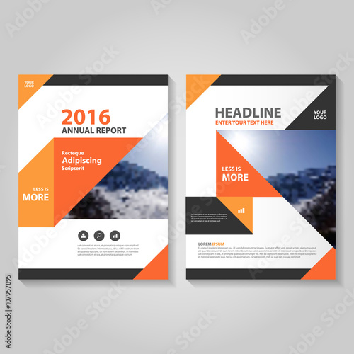 Orange black vector business proposal leaflet brochure flyer orange black vector business proposal leaflet brochure flyer template design book cover layout design cheaphphosting Images