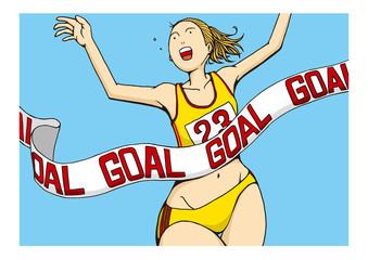 女子マラソンのイメージイラスト