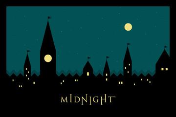Vector Minimal Poster: Midnight
