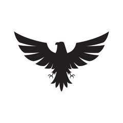 Illustration of eagle Icon isolated on a white background