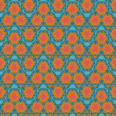 orange wave  textile squiggles seamless pattern
