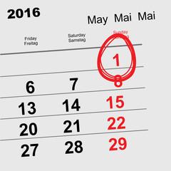 May 1 2016 Orthodox Easter. Calendar egg