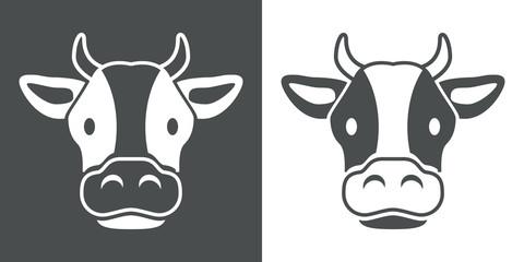 Icono plano cabeza de vaca #1