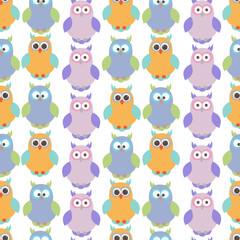 Vector seamless texture with birds.