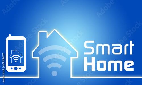 grafik mit smarthome smart home hausautomation. Black Bedroom Furniture Sets. Home Design Ideas