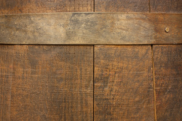 Texture of old wooden (wine or beer) barrel with stave