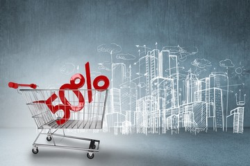 Composite image of online shopping concept