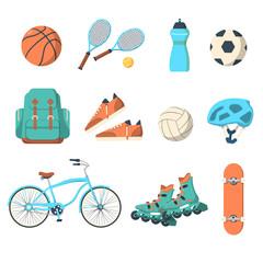 Summer outdoor activities sport equipment