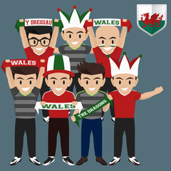 Soccer / Football Supporter / Fans from Wales