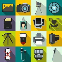 Photography set icons