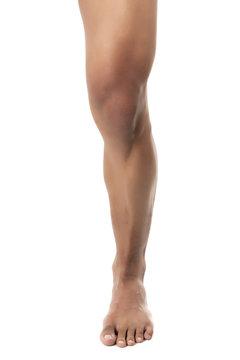 close up image of human leg