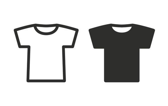 T-shirt - vector icon.