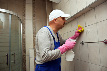 Removing mold and mildew from tiles enhances their look