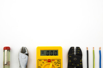 set electrician tools / overhead of a electrician equipment