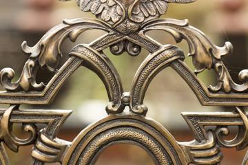 Decorative ornament, made of metal