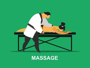 Medical massage procedure