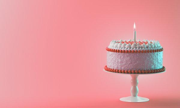 Dolce torta rossa con panna candelina