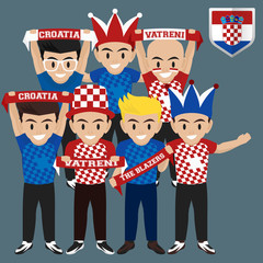 Soccer / Football Supporter / Fans from Croatia