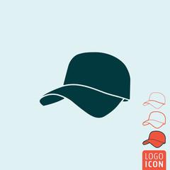 Cap icon isolated