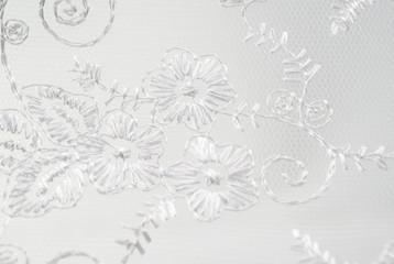 White vintage lace