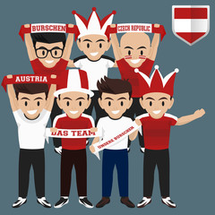 Soccer / Football Supporter / Fans from Austria
