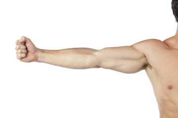 muscular arm Wall mural