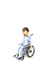 車椅子を使っている少年