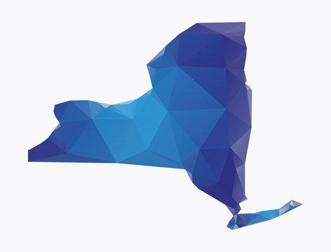 Polygonal map of New-york