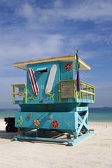 A Miami Beach LifeGuard Stand