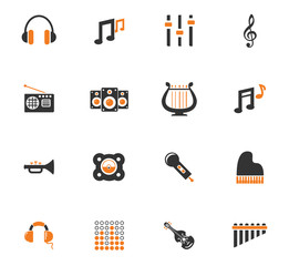 Music icons set