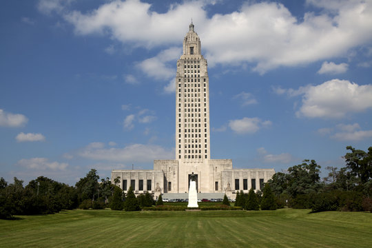 Louisiana State Capitol Building in Downtown Baton Rouge