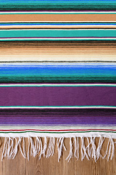 Mexico cinco de mayo traditional mexican serape rug or blanket background