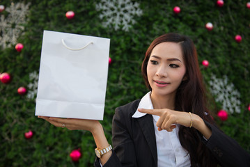 businesswoman With Christmas