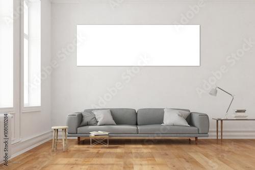 panorama als leinwand im wohnzimmer stockfotos und lizenzfreie bilder auf bild. Black Bedroom Furniture Sets. Home Design Ideas