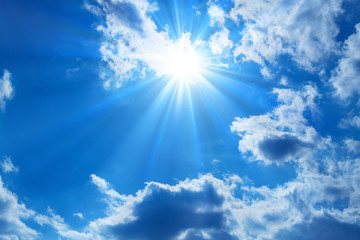 Aluminium Prints Heaven 青空と太陽