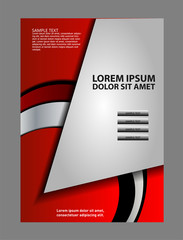 Vector design of the flyer white black and background