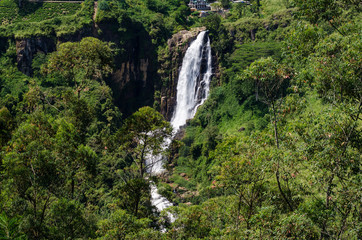 Devon Falls is a waterfall in Sri Lanka, situated 6 km west of Talawakele, Nuwara Eliya District on A7 highway.
