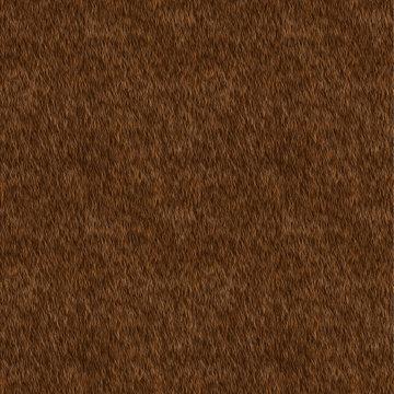 Vector Seamless Pattern. Brown Fur Background.