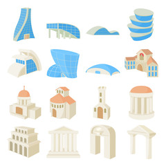 Architecture set icons