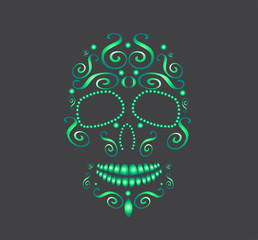 skull vector for fashion design, pattern, tattoo or backgrounds