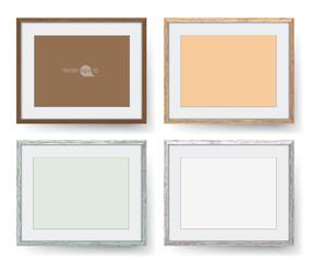 Wooden frames. vector