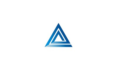 Abstract Geometric Triangle Business