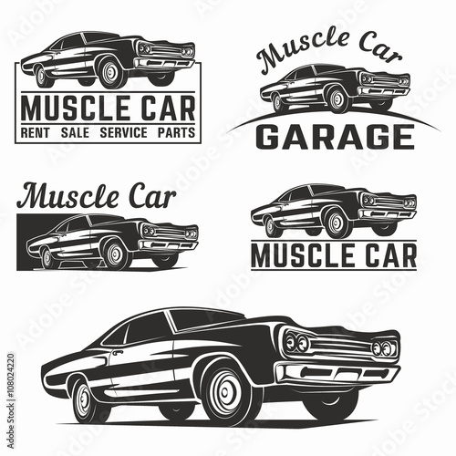 Old Muscle Car Emblems