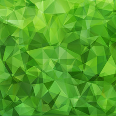 Abstract green triangles background