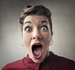 Positively shocked girl
