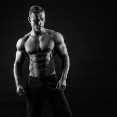 Muscular male posing
