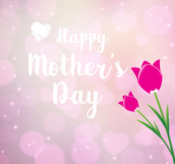 Happy Mothers's Day typographical