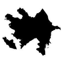 Azerbaijan black map on white background vector