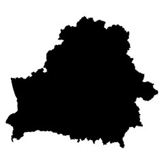 Belarus black map on white background vector